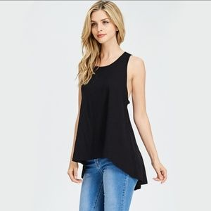 Tops - Sleeveless Overlap Back Top